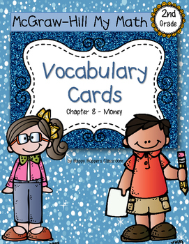 Second-Grade Math Vocabulary {My Math Series - Unit 8}{CCS