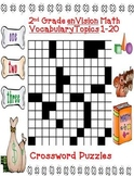 enVision Math 2nd Grade Topics 1-20 Vocabulary Crossword Puzzles