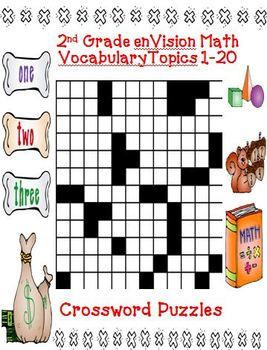 envision math 2nd grade topics 1 20 vocabulary crossword puzzles. Black Bedroom Furniture Sets. Home Design Ideas