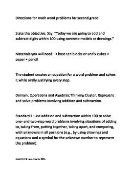 Second Grade Math Word Problems