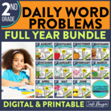 Second Grade Math Word Problems for the Whole School Year Bundle