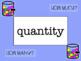 Second Grade Math Word Wall - Editable