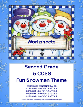 Second Grade Math Worksheets -5 Common Core State Standard