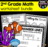 DISTANCE LEARNING Second Grade Math Worksheets Packet