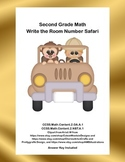Word Problems-Second Grade Math-Write the Room Number Safari-CCSS