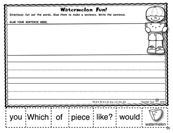 Second Grade Math and Literacy for Summer NO PREP
