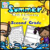 End of the Year Activities Second Grade Math and Literacy for Summer NO PREP