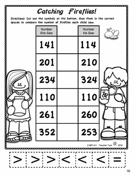 Math Review Worksheets 2nd Grade Math & Literacy for ...