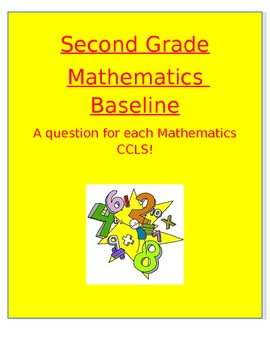Second Grade Mathematics Pre/Post Test! Each question is based on CCLS!