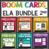 Second Grade May End of Year ELA Boom Cards™ Digital Activities