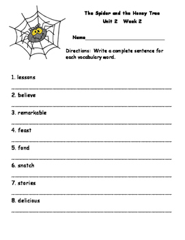 Second Grade McGraw Hill Unit 2 Enrichment Packet