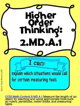 Second Grade Measurement & Data Higher Order Thinking Activities Math {GATE}
