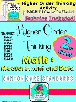 Second Grade Measurement & Data Higher Order Thinking Activities Math {GATE}