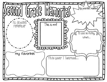 {Freebie!} Second Grade Memories (End of Year Activity)