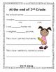 Second Grade Memory Book