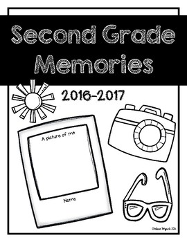 Second Grade Memories Book Cover Page