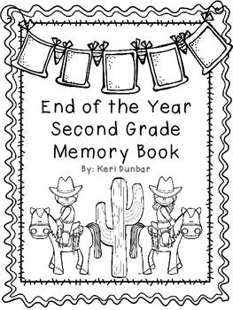 Second Grade Memory Book- Western Theme