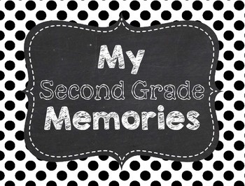 Memory Book for 2nd Grade End of the Year