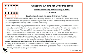 Second Grade Mental Math Part 1 - Fluency to Twenty Cards and Questions