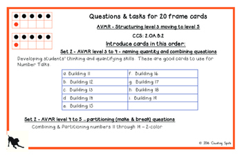 Second Grade Mental Math Part 2 - Fluency to Twenty Cards and Questions