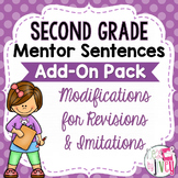 Second Grade Mentor Sentences Modifications ADD-ON Pack