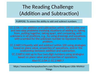 Second Grade Mid Year Math Performance Task 2015 version