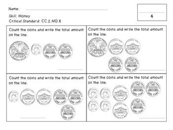 Second Grade Mini Math Assessments For 1st Semester