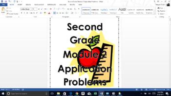 Second Grade Module 2 Eureka Math Application Problems