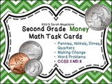Money Math Task Cards: Second Grade