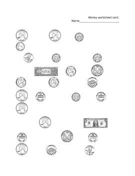 Second Grade Money Packet