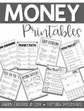 Money Printables {Second Grade}