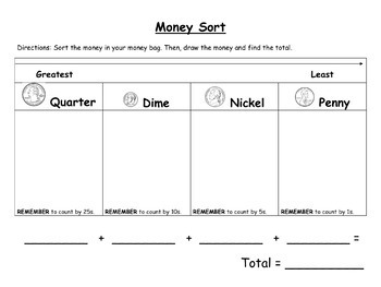Second Grade Money Resource Pack