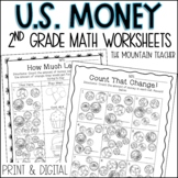 Counting Money Worksheets and Assessments   Printable and