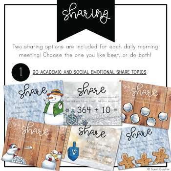 Second Grade Morning Meeting Messages - December