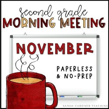 Second Grade Morning Meeting Messages - November