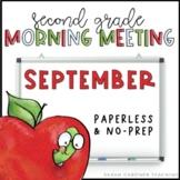 Second Grade Morning Meetings - September