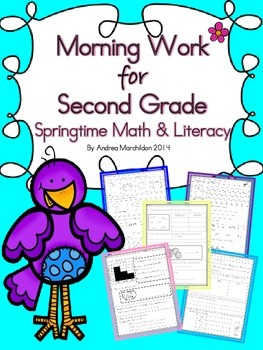 Second Grade Morning Work (Springtime)