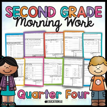 Second Grade Morning Work: Quarter 4