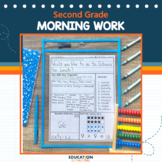 Second Grade Morning Work or Homework, Spiral Review