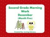 Second Grade Morning Work December