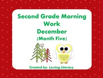 Second Grade Morning Work December