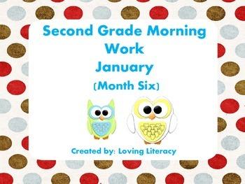 Second Grade Morning Work January