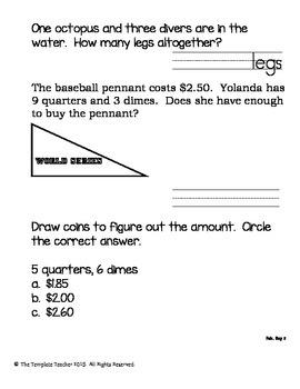 Second Grade Morning Work - Do Now - February