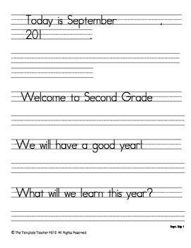 Second Grade Morning Work-Do Now - September