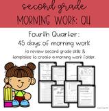 Second Grade Morning Work - Fourth Quarter