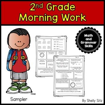 Second Grade Morning Work Freebie
