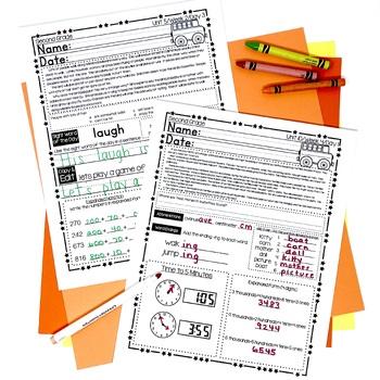 2nd Grade Morning Work — Second Grade Spiral Review