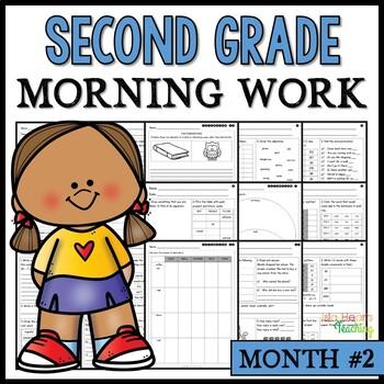 Month #2 Morning Work: Second Grade Morning Work