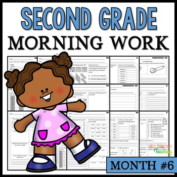 Month #6 Morning Work: Second Grade Morning Work