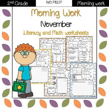 Second Grade Morning Work {November}